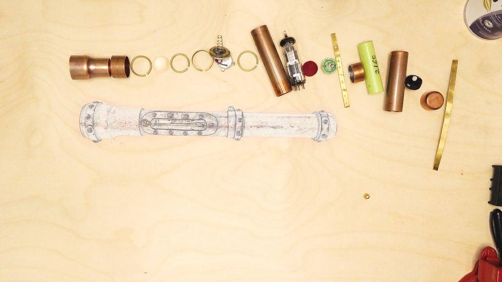 蒸汽朋克手电筒的制作教程