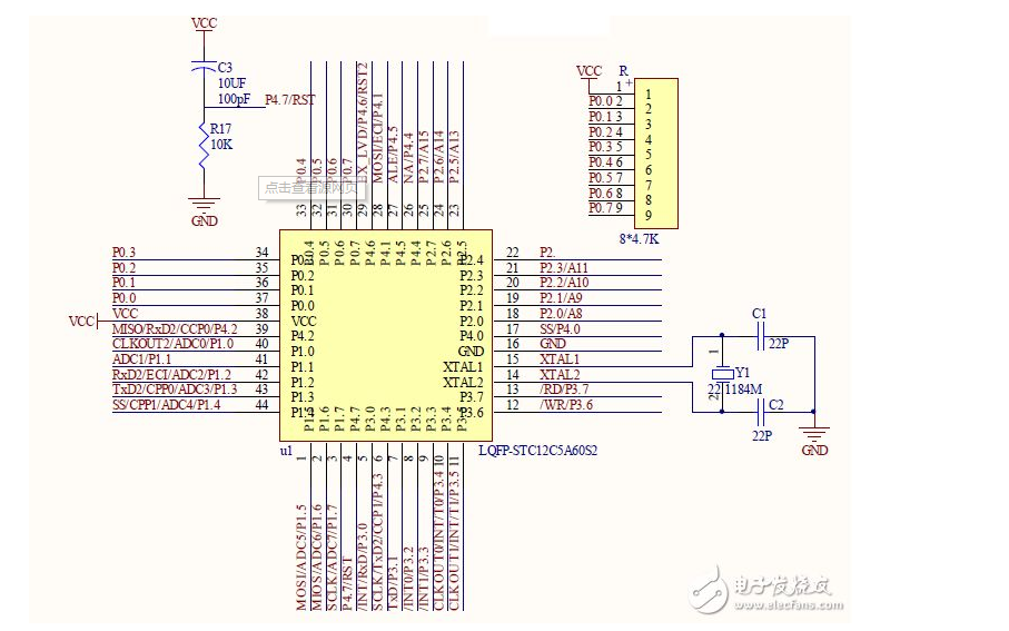 STC12C5A60S2单片机不同波特率串口12通讯演示的程序和工程文件
