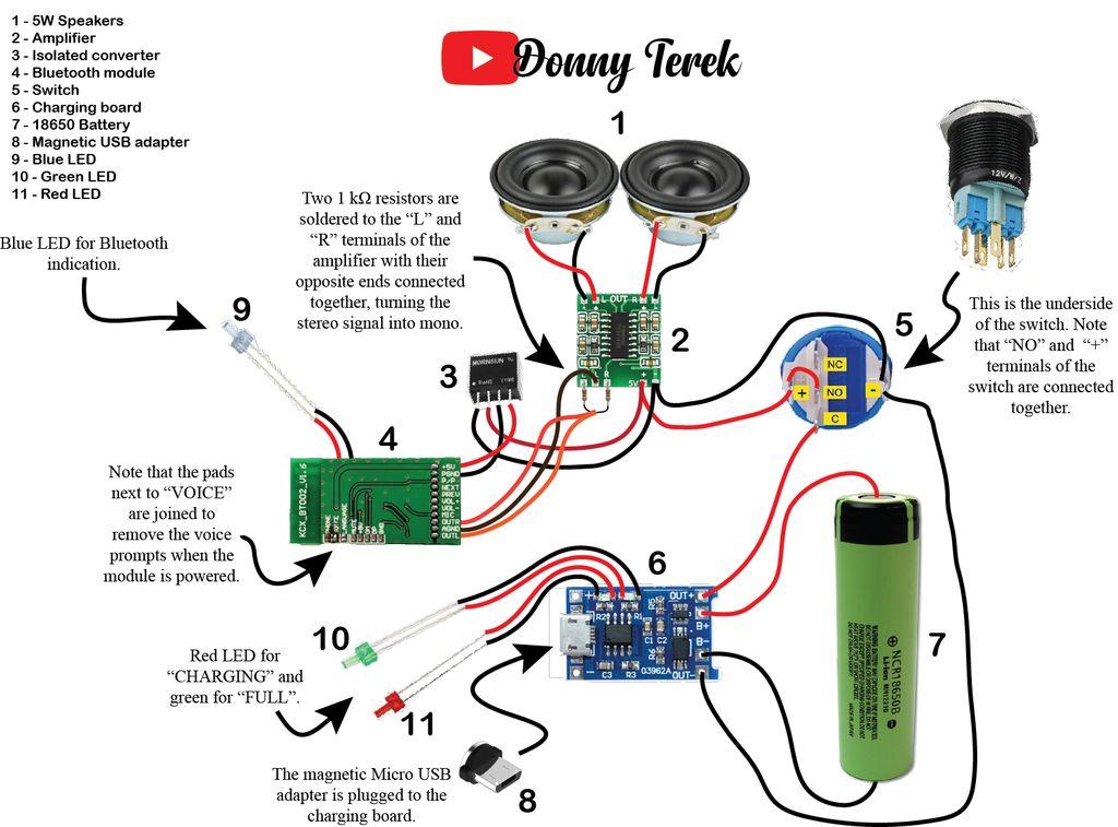 简易便携式蓝牙音箱的制作