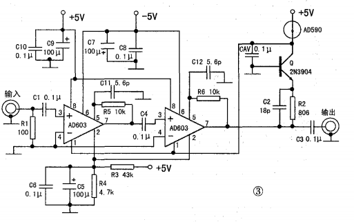 AD603在AGC电路中的应用和电流型运算放大器LM359的一种特殊应用概述