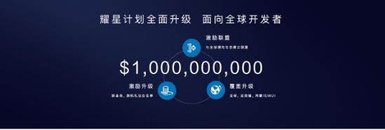 华为宣布耀星计划全面升级,10亿美元激励和扶持全球开发者创新