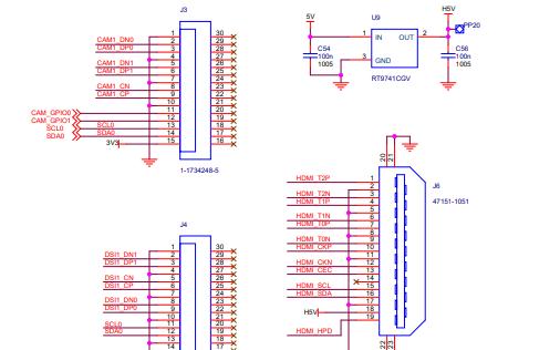 树莓派Raspberry Pi3 A型+的电路原理图免费下载