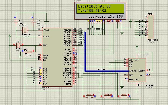 使用51单片机及DS12C887设计的实时时钟的隧道灯控制器程序免费下载