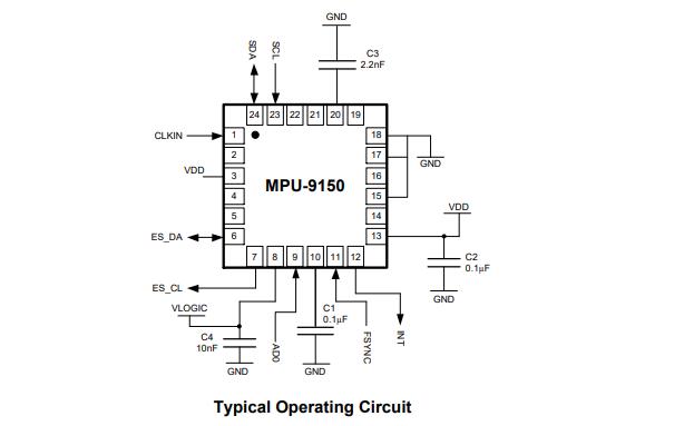 MPU9150加速度计传感器的数据手册免费下载