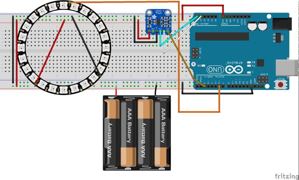 怎样用Arduino将手势传感器和LED环组合