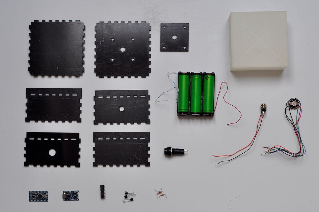 RGBLED立方体的制作教程