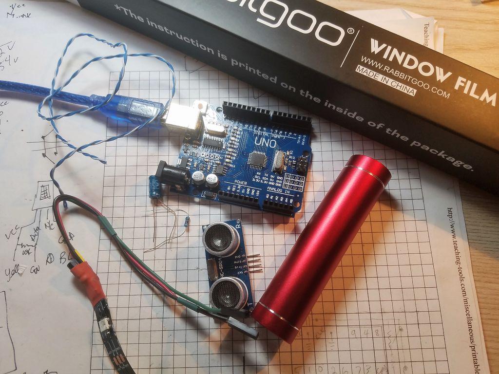 如何制作带超声波传感器的无限远镜