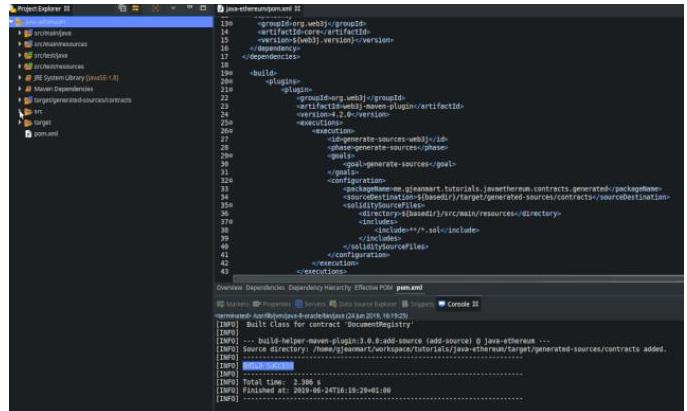 如何从智能合约中生成Java Wrapper