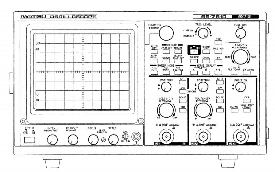示波器SS7810和SS7805及SS7804的维修手册免费下载