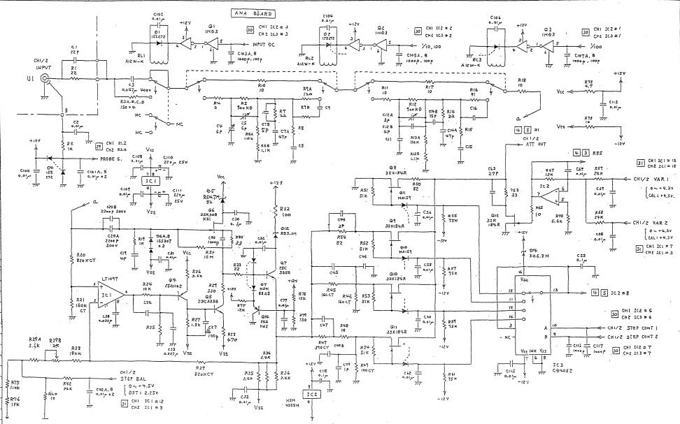SS7804和SS7810型示波器的使用手冊和原理圖免費下載