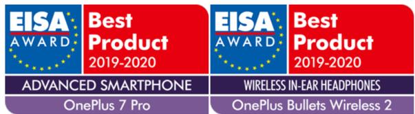 一加7 Pro獲得了2019-2020年度高端智能手機EISA大獎