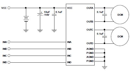 TC1508S双通道直流马达驱动器�w墟秘境的中文数据手册免费下载