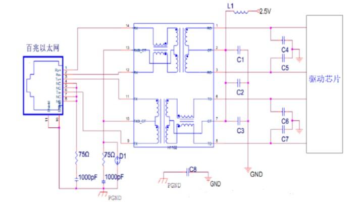 RJ45以太网接口电路设计