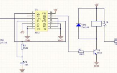 通过双D触发器设计触摸开关电路