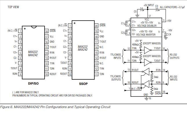 MAX220到MAX249多通道RS232驱动器接收器的数据手册免费下载