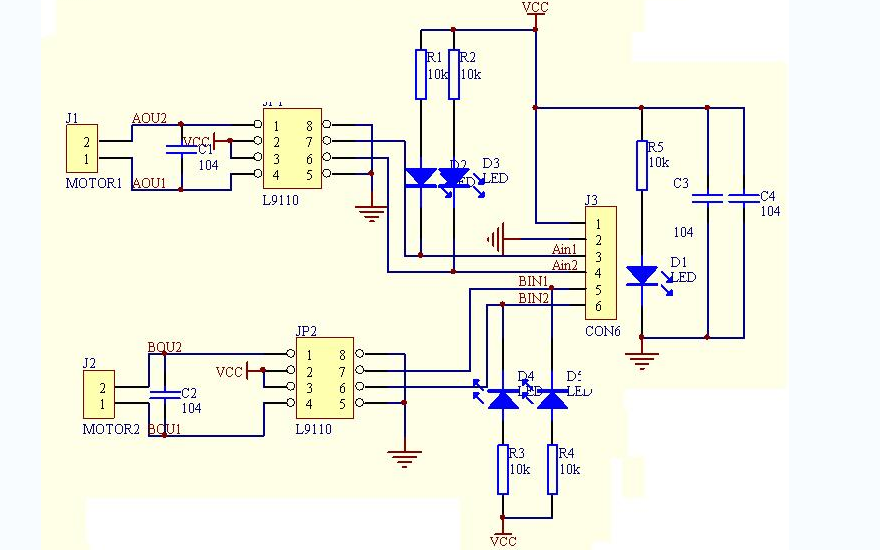 L9110电机控制驱动芯片的数据手册和电路图免费下载