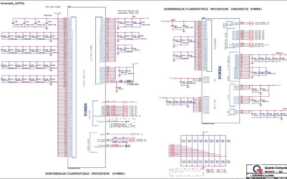 宏碁Aspire 4820T笔记本电脑电路原理图合集免费下载