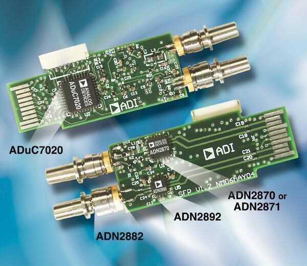 收发器支持存储区域网络设备 目标是4x光纤通道应用