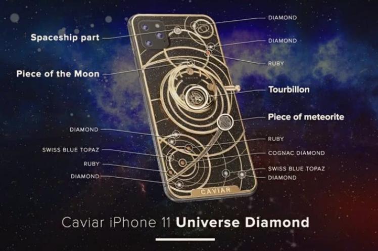 俄罗斯制造商推出五款苹果iPhone11太空定制版,渲染图已经公布