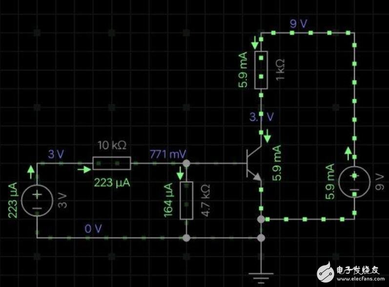 三极管在饱和区做电子开关的原理及用法