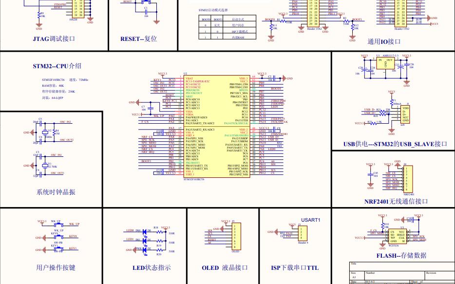 迷你STM32开发板电路原理图免费下载