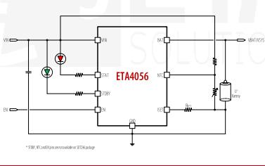 ETA4056高压锂电池充电IC的数据手册免费下载