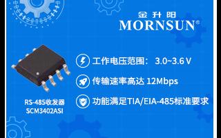 金升阳推出3.3V供电RS-485 收发器新产品...