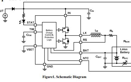 YB5211B锂电池充电器芯片的数据手册免费下载