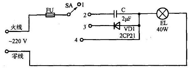 调光灯线路的构成及原理分析