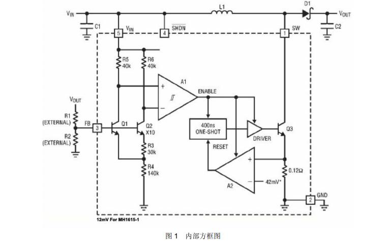 MH1615微功率DCDC转换器芯片的数据手册免费下载