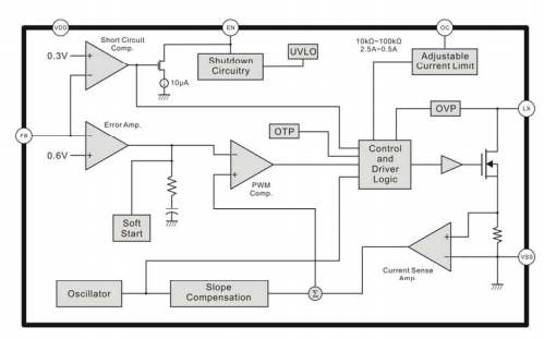 SD6271电流模式升压DCDC转换器芯片的数据手册免费下载