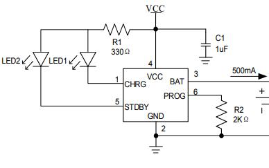 TP4057单节锂电池充电管理芯片的数据手册免费下载