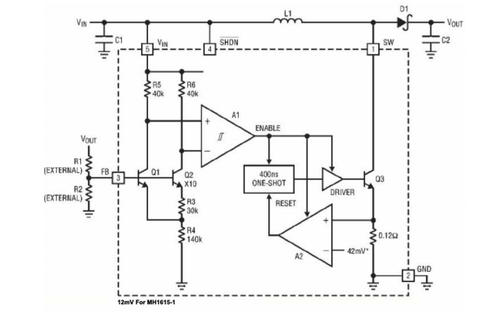 MH1615和MH1615-1微功率DCDC转换器的数据手册免费下载