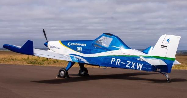 巴航工业展示了其正处于研发阶段的100%电力驱动的飞机图片