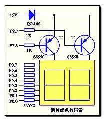 单片机对两位共阳数码管的驱动设计