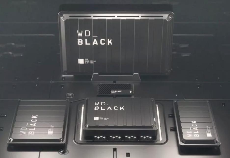 """西部數據推出五款""""WD Black""""外置硬盤,最高存儲百款Xbox游戲"""