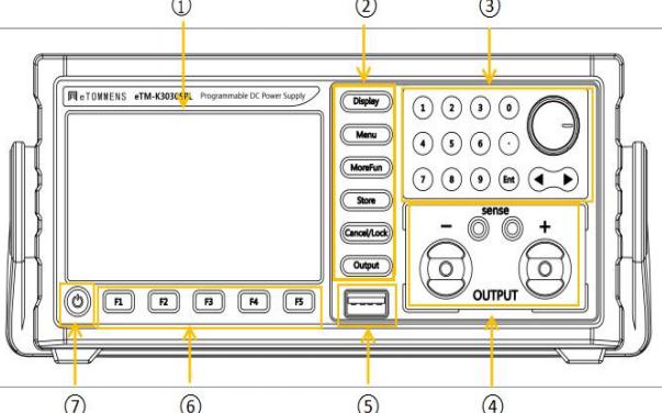 eTMK系列彩屏程控電源用戶手冊免費下載