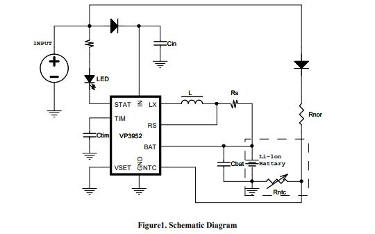 VP3952锂电池充电管理芯片的数据手册免费下载