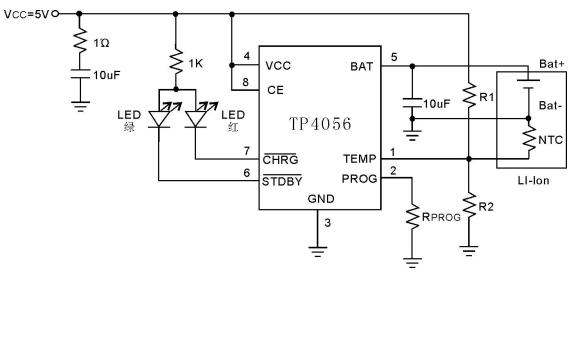 TP4056锂电池充电器芯片的数据手册免费下载