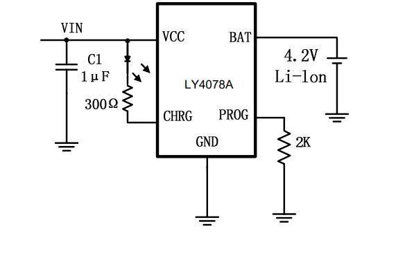 LY4078A单片锂离子电池恒流恒压线性电源管理芯片