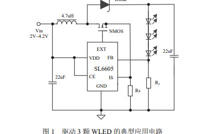 SL6605高效率恒流限流WLED驱动芯片的数据手册免费下载