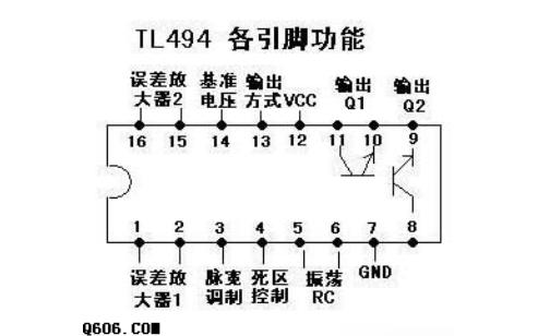 使用TL494开关电源PWM控制芯片制作的汽车低音炮电路图免费下载