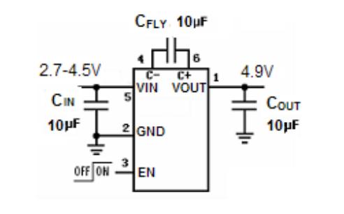 HX4004A低噪音调节电荷泵DCDC转换器的数据手册免费下载