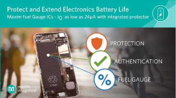 Maxim发布MAX17301/11电量计 首款可为单节Li+电池提供两级保护