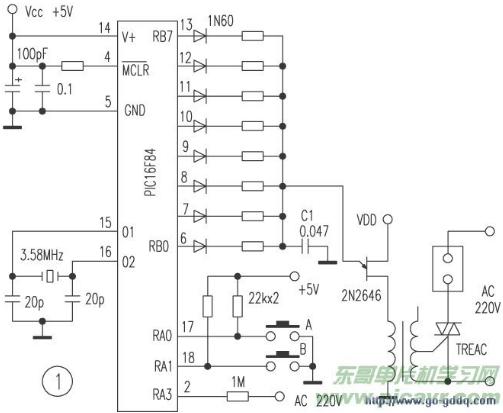 PIC16F84单片机控制电风扇的设计