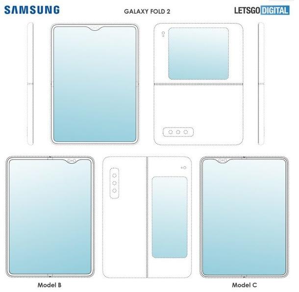 三星Galaxy Fold 2设计专利曝光采用了...