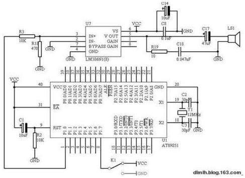 AT89S51单片机驱动扬声器实现报警器功能的设计