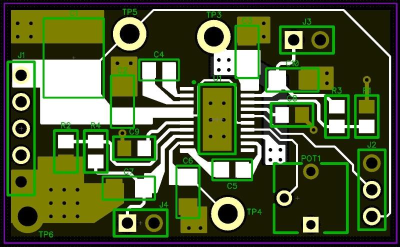 电荷泵双极电源的PCB布局是什么样子的