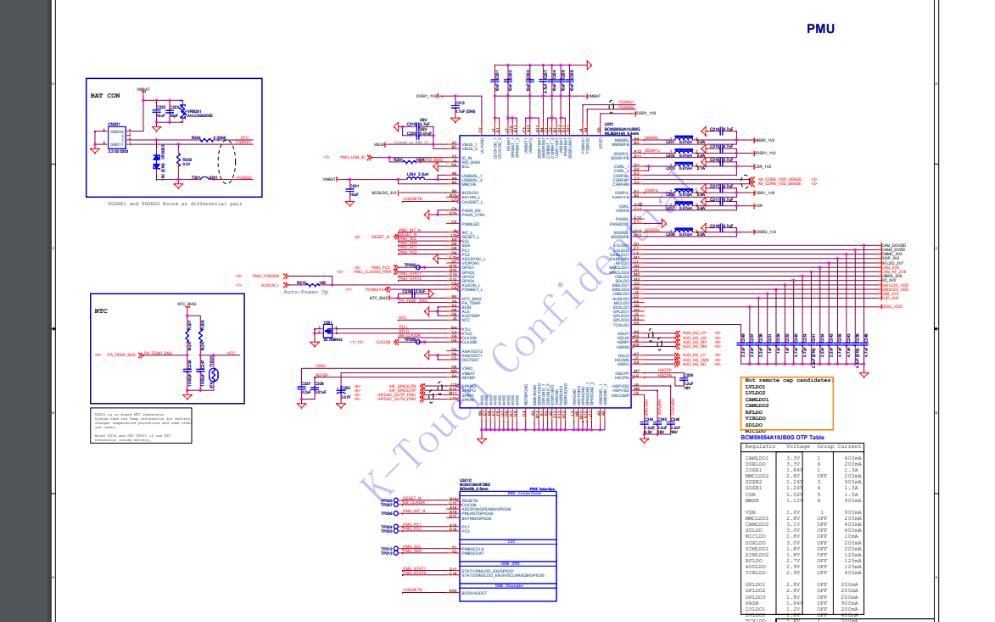 天语W68的电路原理图合集免费下载