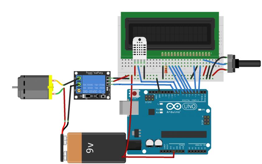 使用Arduino设计的温控电风扇代码免费下载